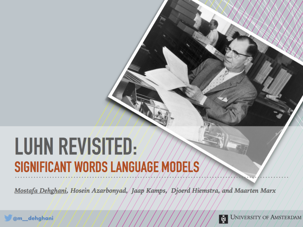 Luhn Revisited: Significant Words Language Models