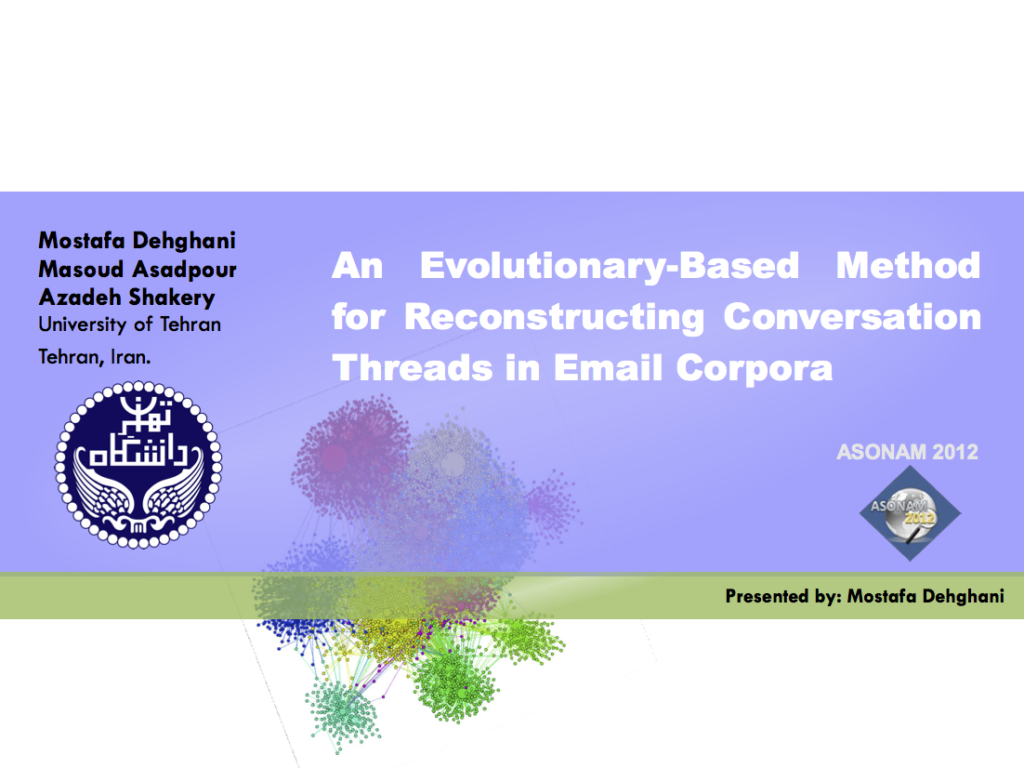 An Evolutionary-Based Method for Reconstructing Conversation Threads in Email Corpora