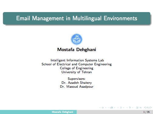 Email Management in Multilingual Environments