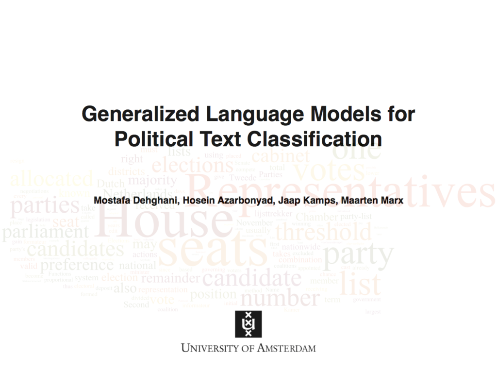 Hierarchical Classification of Parliamentary Data