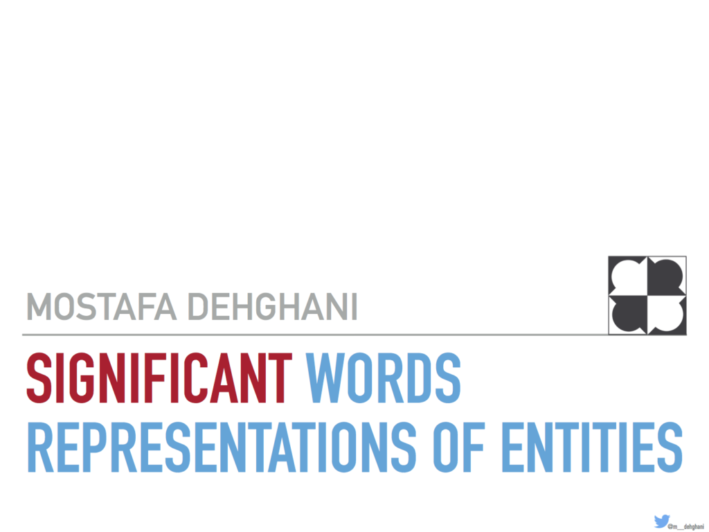 Significant Words Representations of Entities