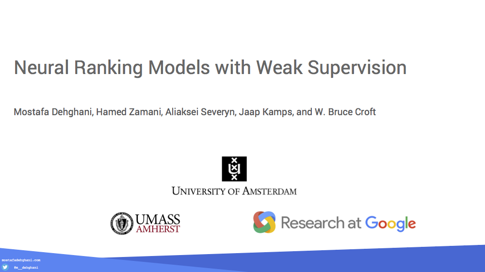 Neural Ranking Models with Weak Supervision