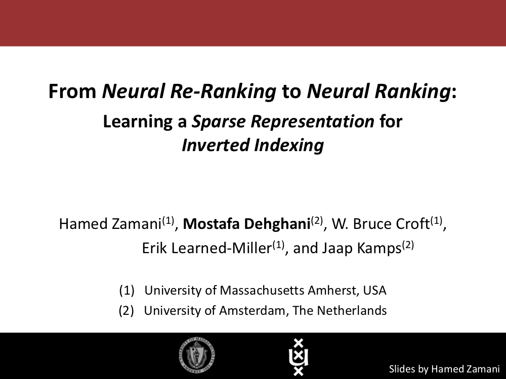 From Neural Re-Ranking to Neural Ranking: Learning a Sparse Representation for Inverted Indexing